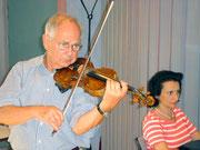 Lübeck, Schleswig-Holstein Musikfestival, Probe mit Saschko Gawriloff (2008)