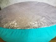 Hundebettbezug für das Hundebett Flocke, Ersatzbezug für Hundebett, Bezug für Flocke, Hundebett rund, Hund