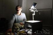 Stephan Brenn, Lichtkünstler, photo: Helmut Hergarten