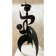 "Antonine de Saint Pierre, mobile sculpture "" Monsieur soleil"" 90cm, painted steel sheets sculpture. Galerie Gabel- Biot"