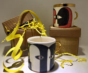 Karolina Szelag tasse en porcelaine faites et peintes à la main, signées numérotées-Galerie Gabel-Biot