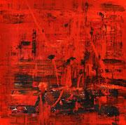 Michel Lizziani acrylique sur toile-Nocturnes de Biot-sorties nocturnes côte d'Azur