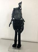 George: Doodle-pièce UNIQUE en bronze créée pour les 500 ans de Léonard de Vinci-cire perdue- disponible à la galerie-Galerie d'art Biot-côte d'Azur-Galerie Gabel -Libre dérive-Tourrette/Loup