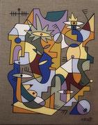 Nils Inne 40X50cm acrylique sur toile-Urban art-Galerie Gabel Biot, galerie d'art Côte d'Azur.