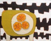 "Gordon Hopkins-oil on canvas-31,4X35,4""-Galerie Gabel Biot-French riviera"