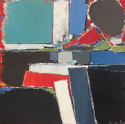 """Anne Gaelle Arnaud oil on canvas-35,4X35,4""""_Abstract-Art gallery France-Biot-French riviera-"""