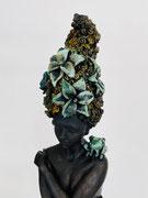 """Francesca dalla Benetta . """"Palude"""" bronze51X20X20cm. Détail. Galerie d'art à Biot. Galerie Gabel. Côte d'Azur"""