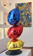 Philippe Berry-3 ballons-78cm - 120cm- 160cm-200cm  Galerie d'art Biot-Valbonne- Antibes