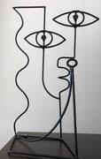 Nils Inne- sculpture en fil d'acier-Galerie Gabel Biot