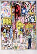 Frank Zeidler, Dessin original , encres, aquarelle, crayon. 50X70cm -  Galerie Gabel, Biot