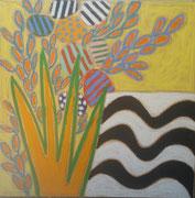 "Gordon Hopkins-oil on canvas--39,3X39,3""-Galerie Gabel Biot-French riviera"