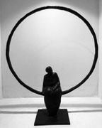 Sophie Hustin-H:38cm. pièces uniques en bronze. Galerie Gabel BIOT