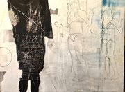 Matthieu ASTOUX: Peinture techniques mixtes sur toile. 114X146cm-Galerie Gabel-Biot-Côte d'Azur