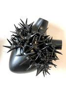 "Coeur en céramique- ATAME ""Spinae black"" Fos ceramiche-céramique- galerie Gabel-Biot -designed by Pastore&Bovina"