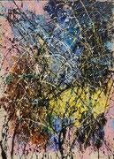 Jean-Jacques Marie, acrilyque sur toile 97X70cm, expressionisme abstrait, abstraction lyrique, galerie d'art Côte d'Azur, Biot