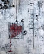 Sophie Hustin peinture. Acrylique sur toile. Galerie Gabel- Biot -Côte d'Azur