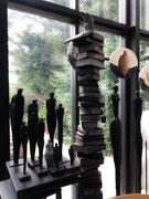 Sophie Hustin- pièces uniques en bronze ou terre cuite. Galerie Gabel . BIOT