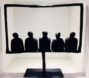 Sophie Hustin- H:37cm-pièces uniques en bronze. Galerie Gabel BIOT