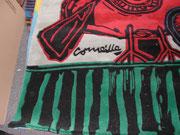 Corneille- édition de tapis d'artiste-certificat signé par l'artiste-galerie d'art Biot-côte d'azur