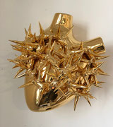 """Coeur en céramique- """"un coeur d'or"""" """"Heart of gold""""   Fos ceramiche - céramique- galerie Gabel-Biot -designed by Pastore&Bovina"""