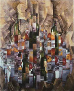 """Serge Mendjisky-""""clin d'oeil à Braque""""-toned silver print mounted on canvas strip by strip-Art Gallery French Riviera-Biot"""
