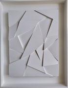 René Galassi Origami  94X74X7cm Galerie d'art contemporain, Biot, côte d'azur