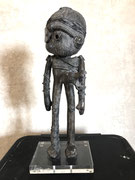 George: Doodle-pièce UNIQUE en bronze-cire perdue- disponible à la galerie-Galerie d'art Biot-côte d'Azur-Galerie Gabel -Libre dérive -Tourrette/Loup