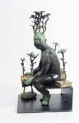 """Francesca dalla Benetta . """"Trasformazioni"""" bronze  37X20X20cm. Galerie d'art à Biot. Galerie Gabel. Côte d'Azur"""