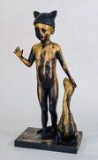"Francesca Dalla Benetta-""Shining""-bronze-Size: Francesca Dalla Benetta-""Rainbow""-bronze-Size: 5.9 W x 18.5 H x 6.7 in-Galerie Gabel-French Riviera's gallery- Biot-Galerie Gabel-French Riviera's gallery- Biot"