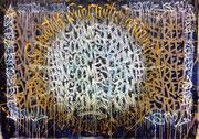Jérémy Besset  & AkirOvitch 220X130cm Galerie Gabel- exposé à l'hotel Beachcomber -Biot-Côte d'Azur