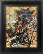 Jean-Jacques Marie, acrilyque sur toile 30X40cm, expressionisme abstrait, abstraction lyrique, galerie d'art Côte d'Azur, Biot