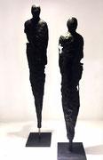 Sophie Hustin- pièces uniques en bronze. Galerie Gabel BIOT