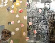 Matthieu ASTOUX:  Peinture techniques mixtes sur toile. 114X146cm-Galerie Gabel-Bi