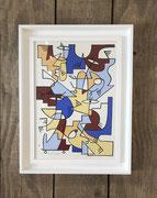 Nils Inne, petit formats, toile encadrée 51X40cm (cadre inclus) Galerie Gabel- Biot