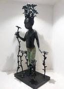 Francesca dalla Benetta Bronze H: 47cm Galerie d'art à Biot. Galerie Gabel. Côte d'Azur
