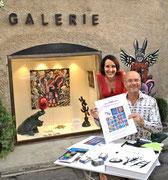 Valérie Gaidoz et Patrick Moya lors de la dédicace de son catalogue raisonné.