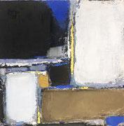 "Anne Gaelle Arnaud, oil on canvas 11,8X11,8""-French art gallery. Galerie Gabel- Biot"