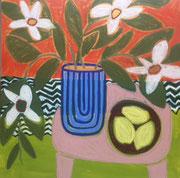 "Gordon Hopkins 100X100cm-""Warmer days"" 120X120cm -huile sur toile-Galerie Gabel Biot"