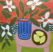 "Gordon Hopkins 120X120cm-""Warmer days""  -huile sur toile-Galerie Gabel Biot"