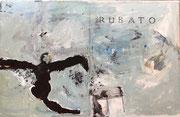 """Philippe Croq """"RUBATO"""" 41X27cm technique mixte sur toile-Galerie Gabel- Côte d'Azur"""
