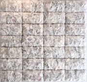 """Thierry Michelet dit Joseph- """"Ghost""""compression de papier et plastique."""