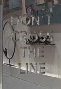 Joseph  (Thierry Michelet)-81X61cm-Inox poli miroir en décalé sur panneau de mortier chaulé et pigments. Urban Art Fair