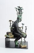 """Francesca Dalla Benetta-""""Trasformazioni""""-bronze- 7.9 W x 14.6 H x 7.9 in-Galerie Gabel-French Riviera's gallery- Biot"""