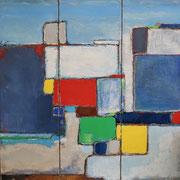 "Anne Gaelle Arnaud, oil on canvas- (35,4X35,4"") Art gallery, France-Biot-French riviera-BIOT"