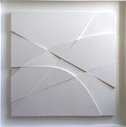 René Galassi Origami  122X122X7cm Galerie d'art contemporain, Biot, côte d'azur