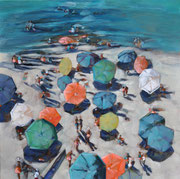 """Clothilde Lasserre- Oil on canvas - 39X39"""" - Contemporary art gallery- French Riviera-France"""