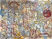 Nils Inne 290X190cm acrylique sur toile-Urban art- Galerie Gabel Biot
