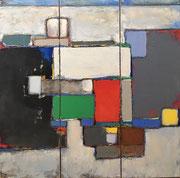 "Anne Gaelle Arnaud, oil on canvas-  (35,4X35,4"") Art gallery , France-Biot-French riviera-BIOT"