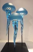 Nicolas Laty- 3 méduses-Verre soufflé- Galerie Gabel-Biot