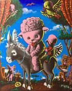 MOYA-acrylique sur toile-54X64cm-pièce unique-galerie d'art du sud de la France-galerie Gabel-BIOT